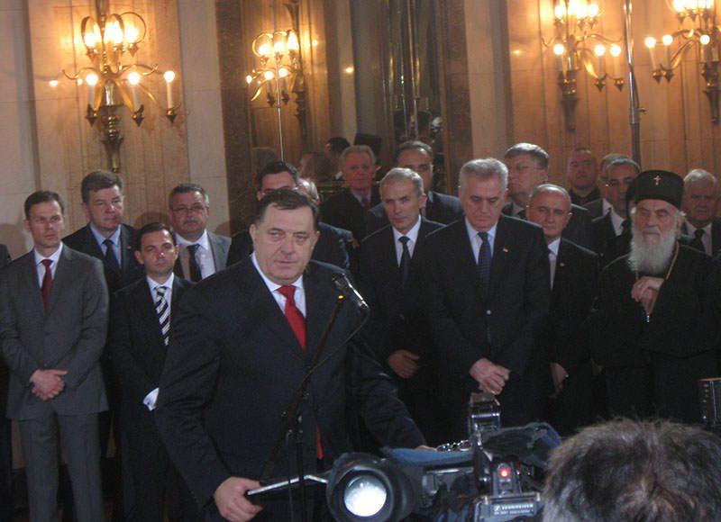 Дан РС у Београду: Сусрет Херцеговаца са Патријархом Иринејом и Милорадом Додиком
