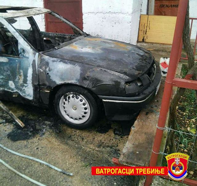 Изгорио аутомобил у Требињу
