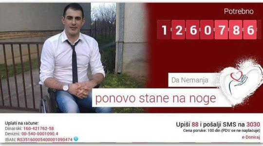 Помозимо нашемНемањи Ћурићу из Гајдобре да поново прохода!