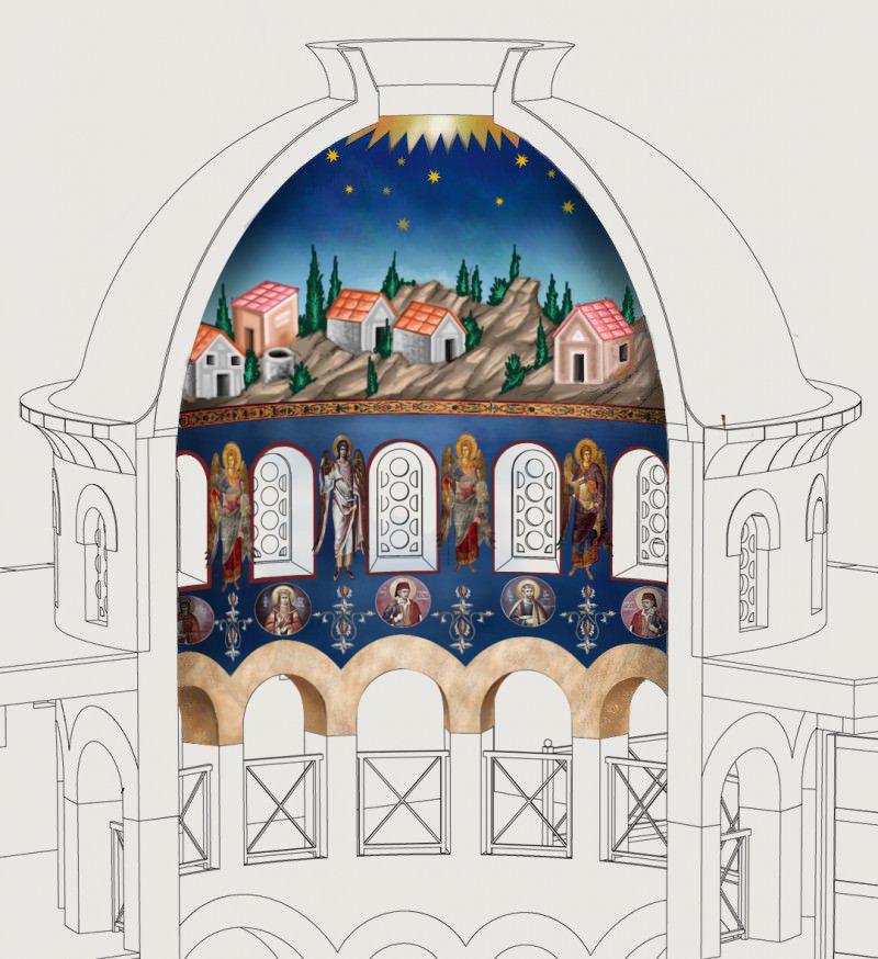 ЕКСКЛУЗИВНО: Овако ће изгледати осликан Храм Васкресења у Пребиловцима