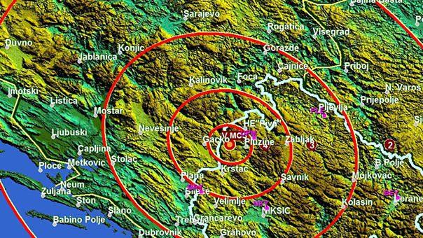 Нови земљотрес се осјетио у Требињу
