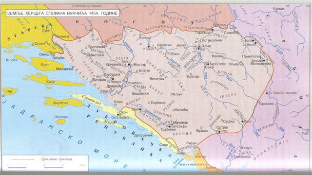 Stara Hercegovina - karta