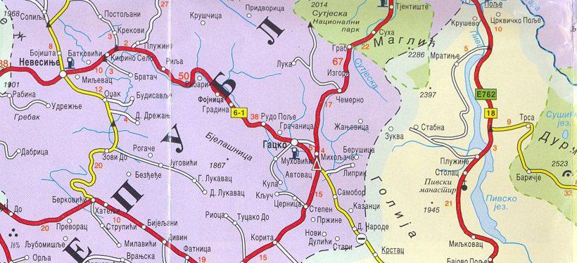 gacko-mapa