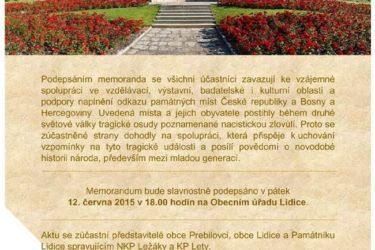 Браћа по крви: Сарадња Пребиловаца и општине Лидице у Чешкој