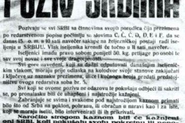 KRVAVI ILINDAN 1941: Stradanje Srba iz Zijemlje kod Mostara