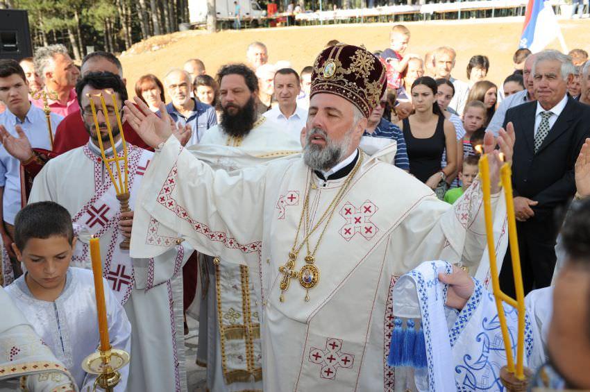Освештање храма Светог Георгија у Невесињу