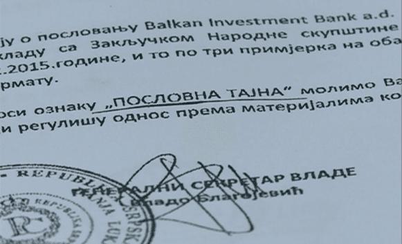 Драма у Скупштини: Ко је добио тајни извјештај о Бобар банци