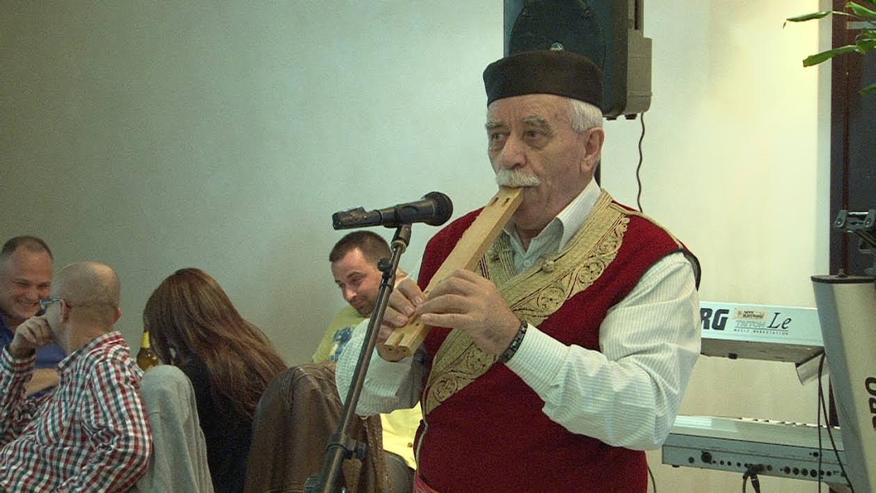 Војин Радојичић са двојницама у Банату