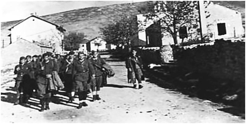 Партизанска чета у Билећи 1944 године