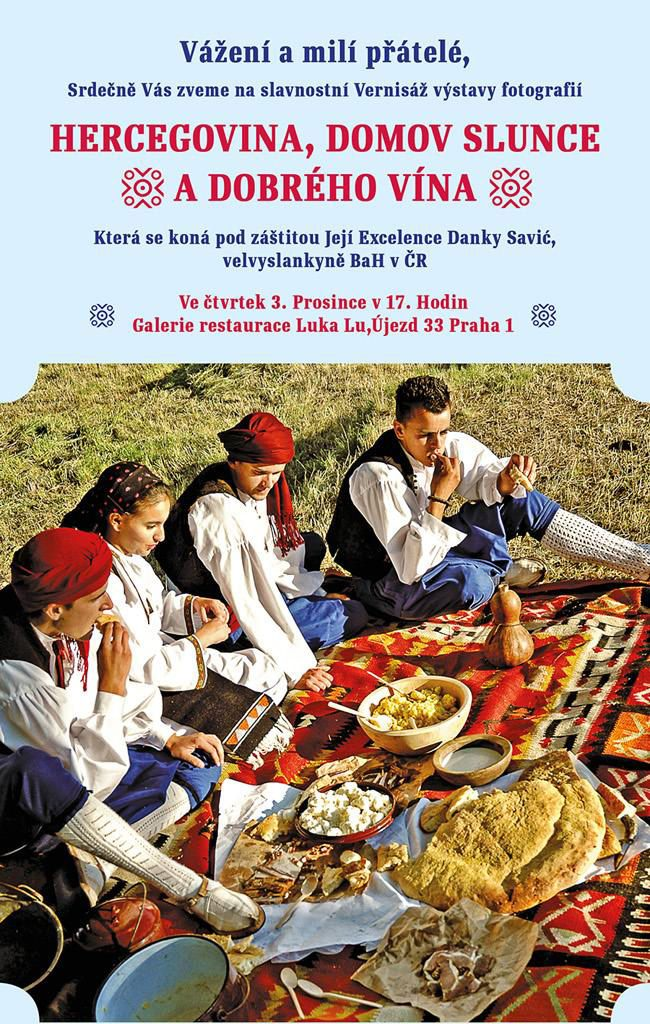 ПРАГ, 3-5. децембар: Херцеговина кућа сунца и доброга вина