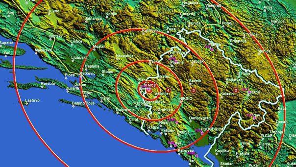 Земљотрес код Билеће, потресао и Требиње