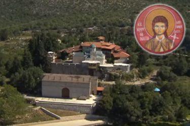 АНЂЕО У ТВРДОШУ: Вјерници се моле пред иконом Милице Ракић