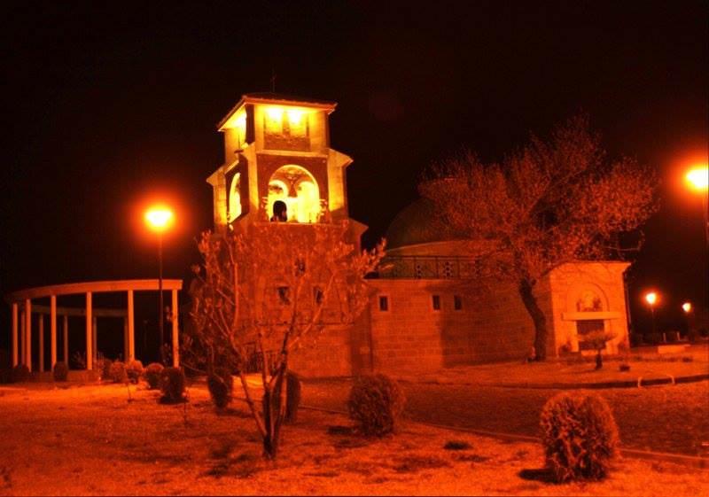 ПРЕБИЛОВЦИ: Ноћ над Храмом Васкресења (ФОТО: Милан Шиљеговић)