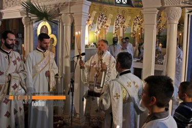 VASKRS U TREBINJU: Vladika Grigorije služio liturgiju u hramu Svetog Preobraženja