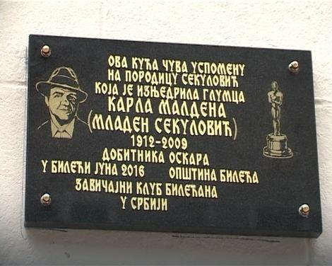 БИЛЕЋА: Откривена спомен плоча оскаровцу Карлу Малдену