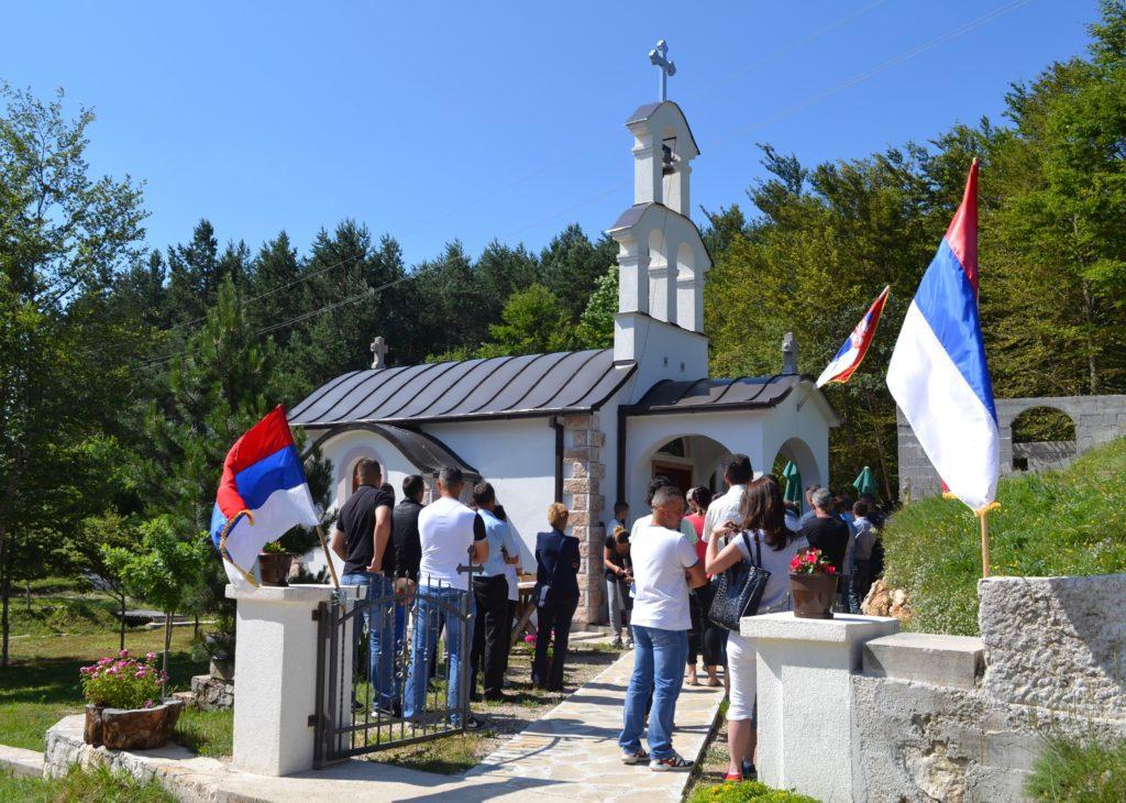 ВИДОВДАН У СЕЛУ ЗАБОРАНИ: Црква Светих косовских мученика у мјесту Сточа (фото: Верица Чупковић)