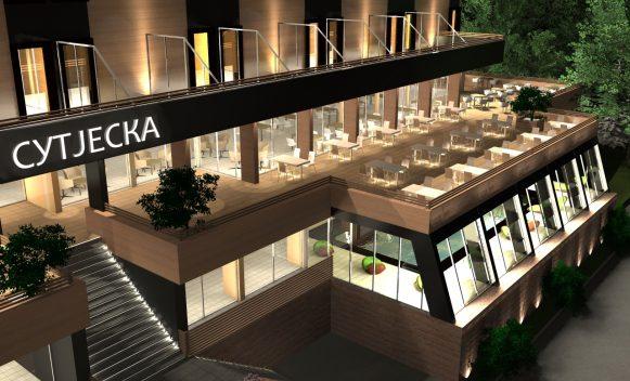Требиње - хотел Сутјеска - пројекат