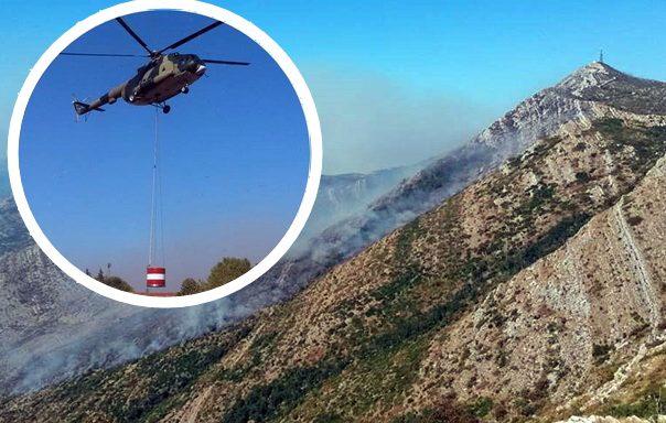 Пожар пустоши Леотар, гаси и хеликоптер Оружаних снага БиХ