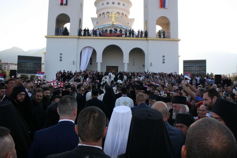 ВИДЕО: Освештан Храм Светог Јована Владимира у Бару