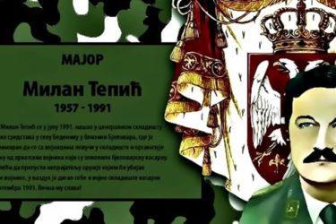 СЛАВА ХЕРОЈУ: Овако се српски мајор Милан Тепић винуо у небеску Србију! (ВИДЕО)