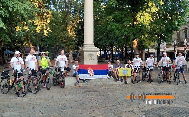 СТАЗАМА СРПСКИХ ХЕРОЈА: Требињски бициклисти кренули до Kрфа да одају почаст