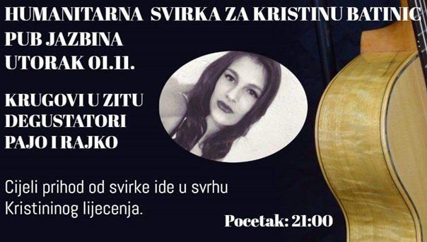 ПОМОЗИМО КРИСТИНИ: Хуманитарни концерт музичара из Требиња и Билеће