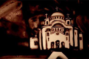 ИЗ РУСИЈЕ С ЉУБАВЉУ: Пешчана анимација посвећена Србији (ВИДЕО)