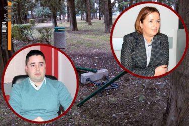 Поново страдао мобилијар у парку: Стражар или видео-надзор једина рјешења