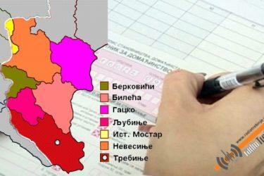 ХЕРЦЕГОВИНА У БРОЈЕВИМА: У седам општина живи само 65.702 становника