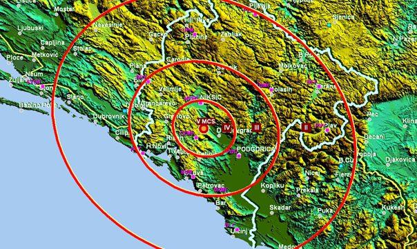 Земљотрес код Никшића, подрхтавало и у Требињу