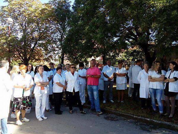 Штрајк упозорења у билећком дому здравља
