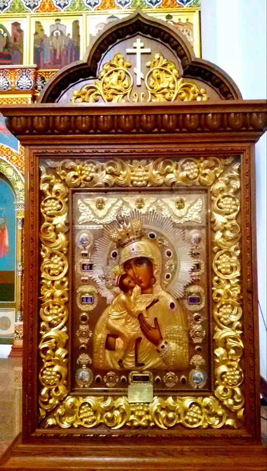 ИКОНА ПРЕСВЕТЕ БОГОРОДИЦЕ ВЛАДИМИРСКЕ: Нека је слава Оној која штити и снажи православни народ руски