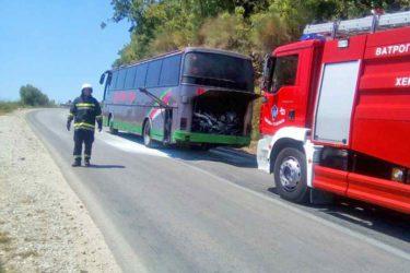 Запалио се аутобус у Херцег Новом