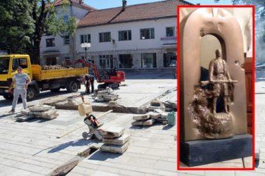 Почела изградња централног спомен обиљежја борцима у Невесињу