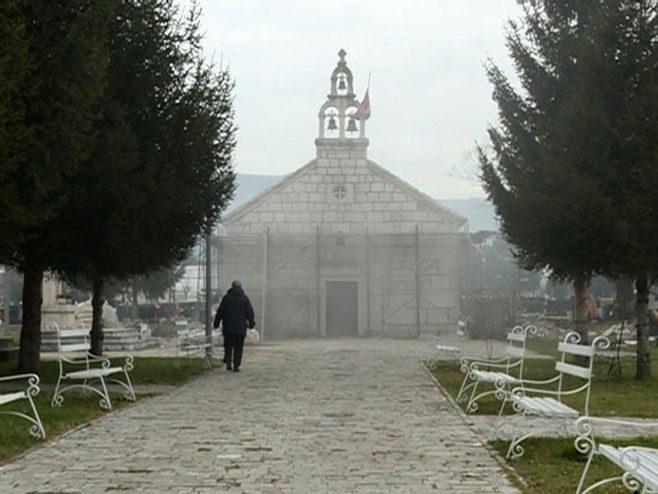 Обнова храма Рођења Пресвете Богородице у Љубињу (ВИДЕО)