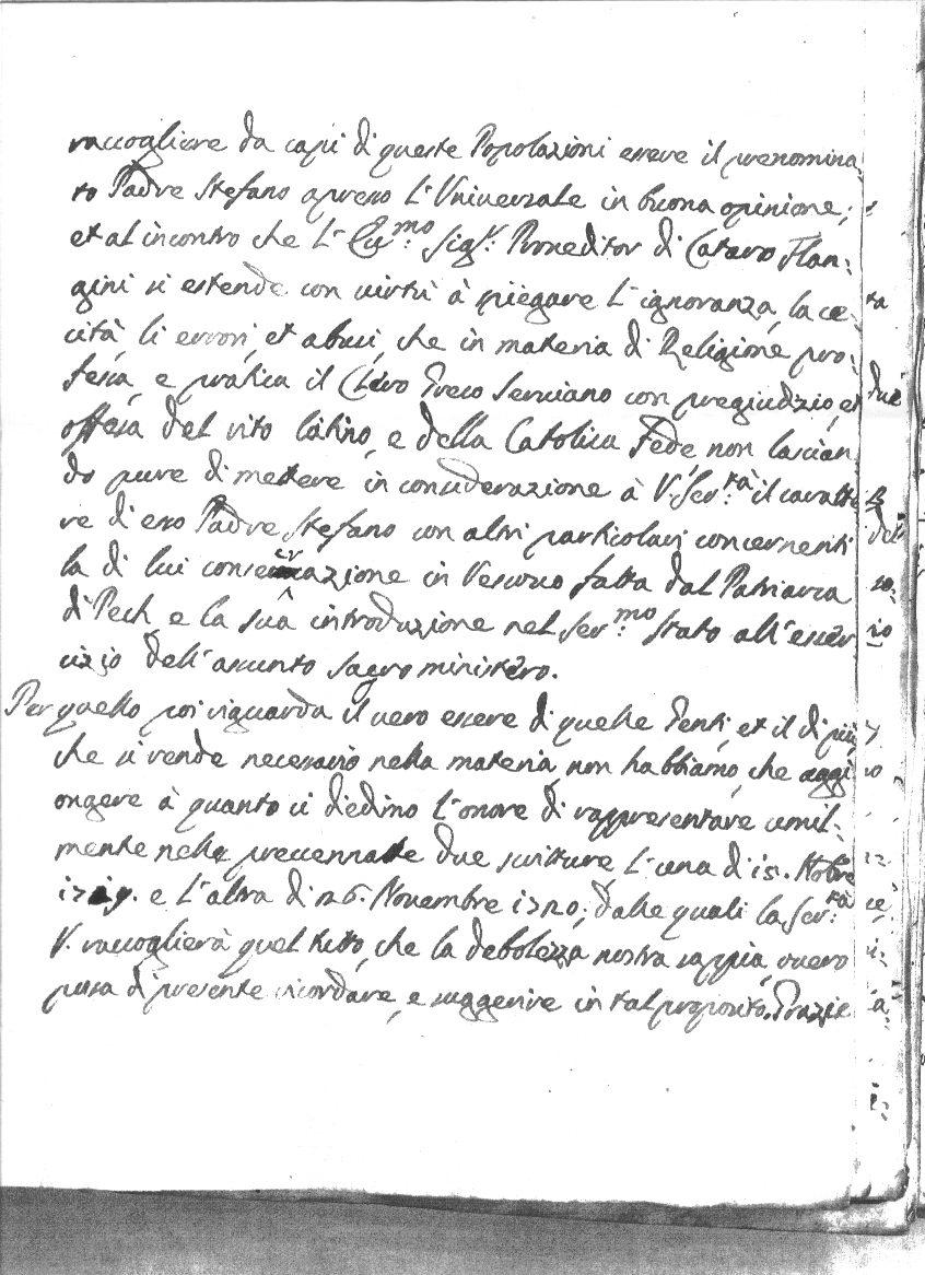 ГОРАН Ж. КОМАР: Шта су млетачки консултори писали дужду поводом прогона српског владике Стефана Љубибратића (1721. године)