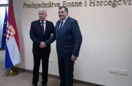 СНСД И ХДЗ ОЧЕКУЈУ ВЕЛИКУ ПОВЈЕДУ: Додик и Човић договорили коалицију након избора