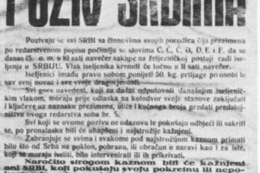 Spisak stradalih Srba Mostara u Drugom svjetskom ratu 1941 – 1945