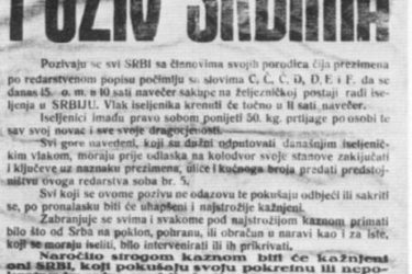 Списак страдалих Срба Мостара у Другом свјетском рату 1941 – 1945