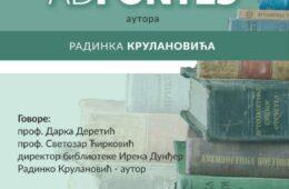 БИЛЕЋА, 16. МАЈ 2019. ГОДИНЕ: Промоција збирке пјесама Радинка Крулановића
