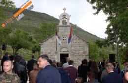 Владика Димитрије освештао обновљену цркву Свете Варваре у Кочелима
