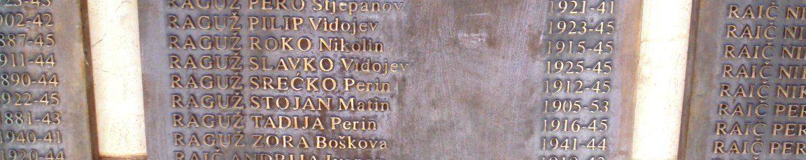 """Име Стојана Рагужа је на споменику, међу онима који су се """"борили за Хрватску"""", међу 1500 погинулих усташа са подручја општине Чапљина"""