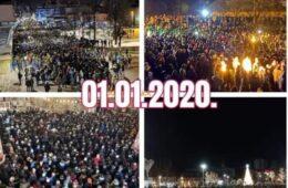 НЕ ДАМО СВЕТИЊЕ: Вјерни народ протестује широм Црне Горе