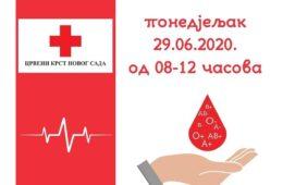 НОВИ САД, 29. ЈУН 2020. ГОДИНЕ: Млади Херцеговци организују 10. акцију добровољног давања крви