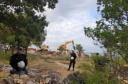 Срушен конак манастира код Улциња