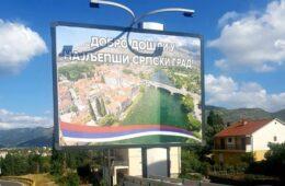 БИЛБОРД У ТРЕБИЊУ: Добро дошли у најљепши српски град!