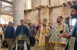 НЕДЈЕЉА НА ДУХОВЕ У ДОЛИНИ НЕРЕТВЕ: Владика Димитрије предводио славску литургију у Мостару