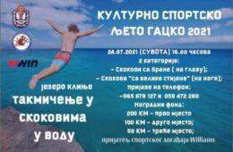 ГАЦКО, 24. ЈУЛ 2021. ГОДИНЕ: Такмичење у скоковима у воду на језеру Клиње